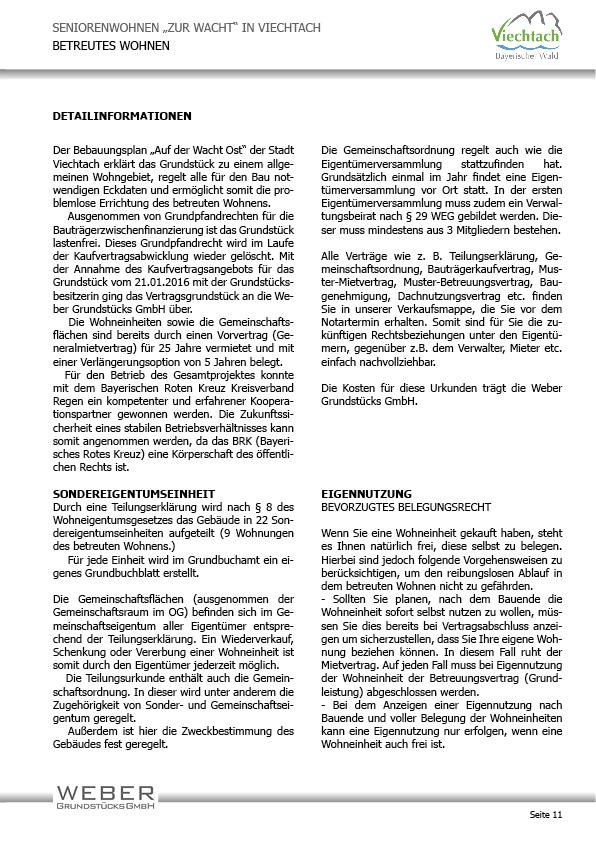 Projektbeschreibung Betreutes Wohnen Weber Grundstucks Gmbh